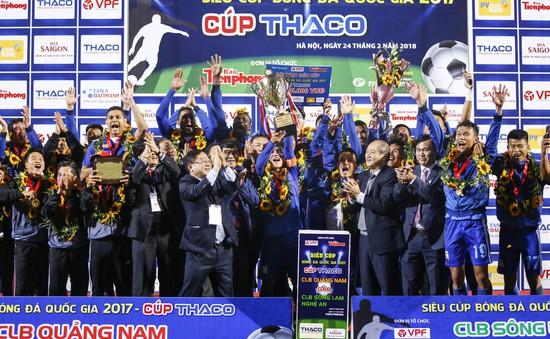 ẢNH: Khoảnh khắc CLB Quảng Nam giành chức vô địch Siêu cúp Quốc gia 2017