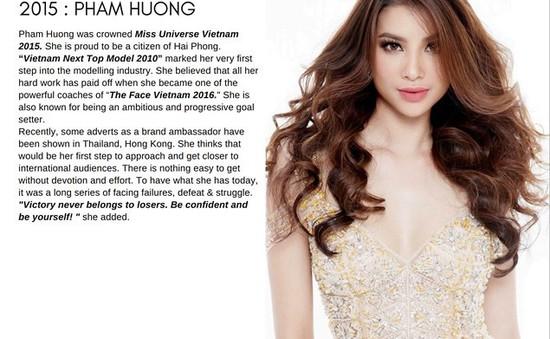 Phạm Hương xinh đẹp bất ngờ trên tạp chí của Ý