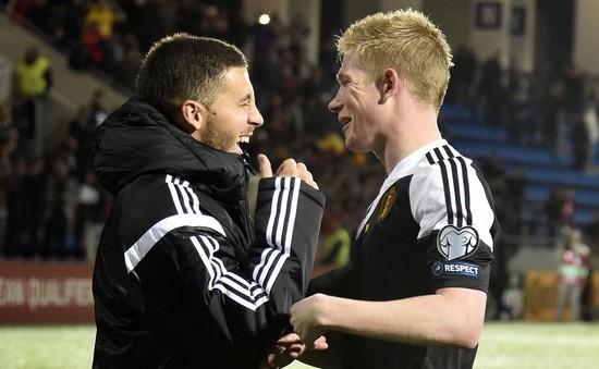 Hazard muốn trở thành đồng đội với De Bruyne
