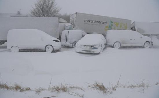 Chùm ảnh: Châu Âu lại chìm trong giá rét và bão tuyết bất thường