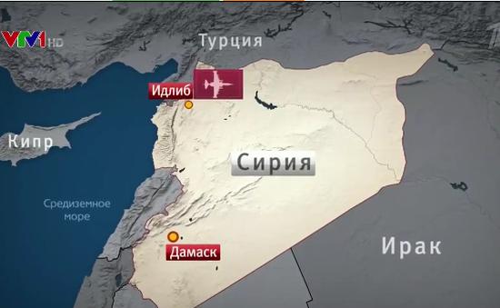 Máy bay chiến đấu Nga bị bắn hạ tại Syria