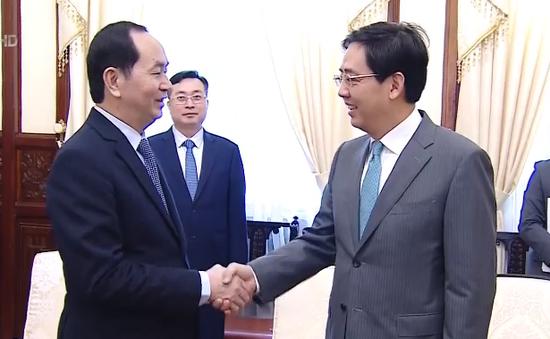 Chủ tịch nước tiếp Đại sứ Trung Quốc chào từ biệt