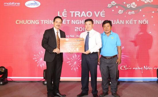 Tặng 1.200 vé tàu Tết cho công nhân tại KCN Bình Dương, Đồng Nai, Long An