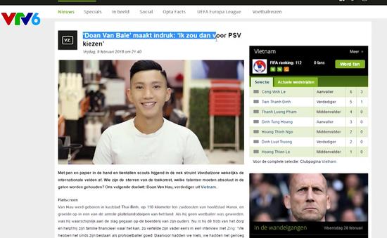 Đoàn Văn Hậu - U23 Việt Nam được báo Châu Âu ví như Gareth Bale