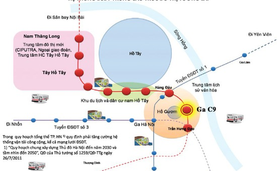 Hà Nội lấy ý kiến về việc xây dựng ga tàu điện ngầm
