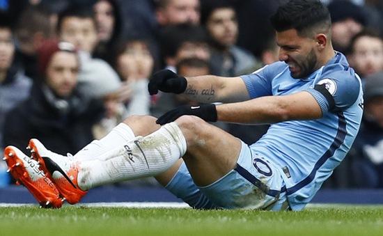 Aguero gặp chấn thương, nghỉ thi đấu 2 tuần