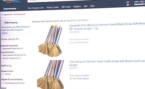 Chổi chít Việt Nam xuất hiện trên Amazon