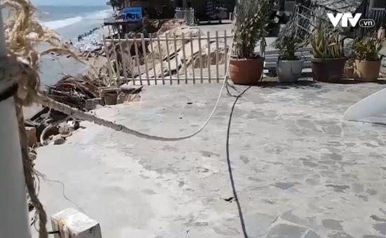 """Sạt lở nghiêm trọng tại """"thủ đô"""" resort Bình Thuận"""