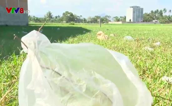 Ninh Thuận: Rác túi nilon tràn ngập vùng nông thôn An Hải