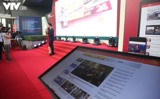 Gian trưng bày của VTV tại Hội Báo toàn quốc 2018 thu hút khán giả với công nghệ thời 4.0