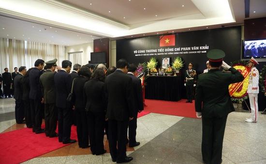 Trang trọng lễ viếng nguyên Thủ tướng Phan Văn Khải tại Hà Nội