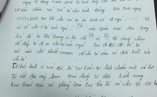 Buộc thôi việc 2 giáo viên mầm non dùng chân đẩy bé trai ngã xuống nền nhà tại Vũng Tàu