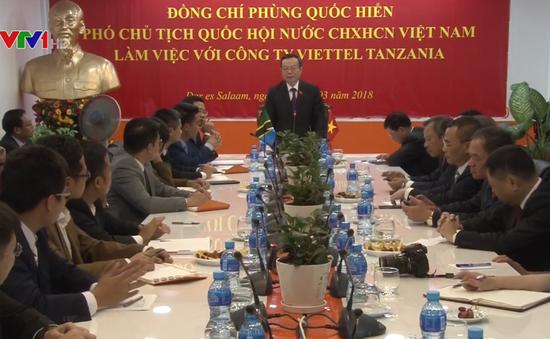 Phó Chủ tịch Quốc hội Phùng Quốc Hiển thăm và làm việc tại Tanzania