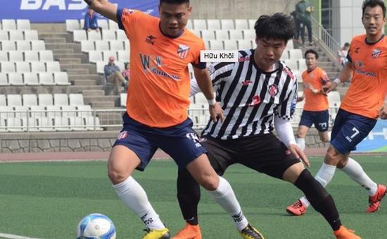 Cầu thủ người Nam Định toả sáng tại Hàn Quốc