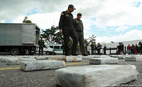 Bắt giữ hơn 2 tấn ma túy tại Colombia