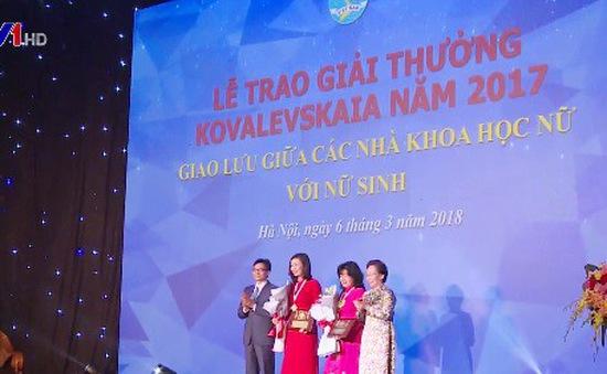 Trao giải Kovalevskaia 2017 cho hai nhà khoa học nữ xuất sắc
