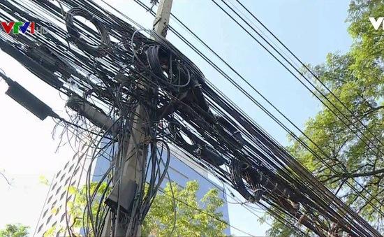 """""""Mạng nhện"""" dây điện ở một số thành phố châu Á"""