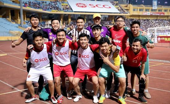 Giải Bóng đá Đường phố SCG được tổ chức ngay trước các trận đấu của CLB Hà Nội tại SVĐ Hàng Đẫy