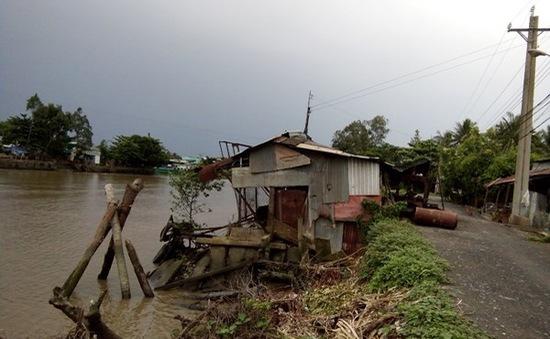 Chưa thi công giai đoạn 2 dự án chống sạt lở kênh Chợ Gạo, người dân sống trong lo âu