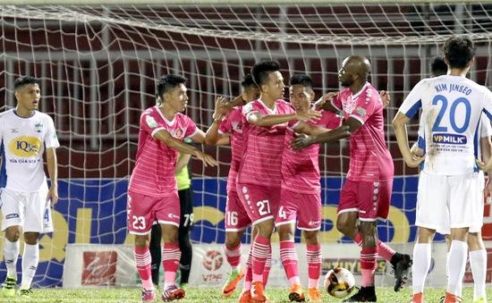 CLB Sài Gòn thắng trận đầu, CLB Hà Nội bứt phá (BXH Nuti Café V.League ngày 14/4)
