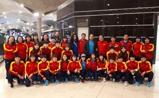ĐT nữ Việt Nam đã rời thủ đô Amman, Jordan