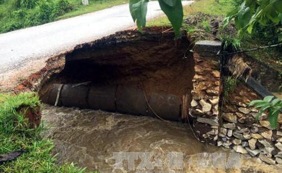 Cảnh báo sạt lở trên Quốc lộ 3C qua Thái Nguyên