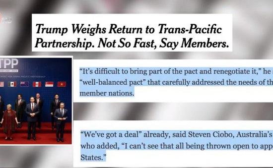 Tính khả thi của việc Mỹ quay lại TPP