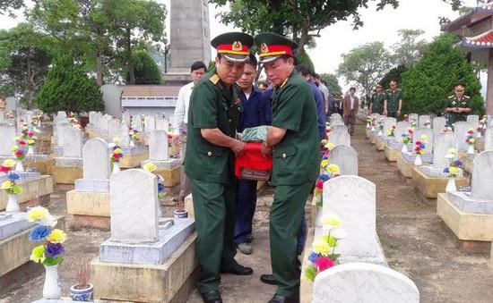 Quảng Trị: Tổ chức Lễ truy điệu và an táng 9 hài cốt liệt sỹ
