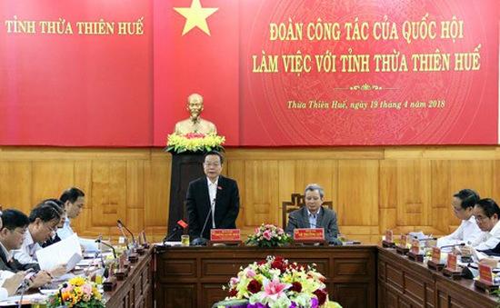Phó Chủ tịch Quốc hội Phùng Quốc Hiển làm việc tại Thừa Thiên - Huế