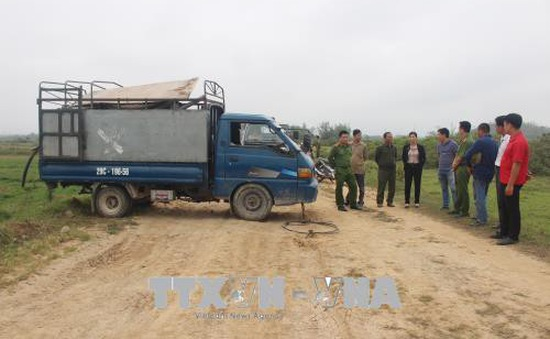 Quảng Ninh: Bắt giữ 2 đối tượng xả chất thải ra môi trường