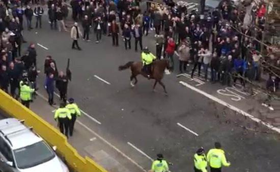 Cảnh sát dùng kỵ binh giải tán bạo loạn sau trận derby London