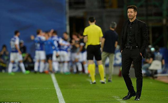 Atletico Madrid thua sốc Real Sociedad