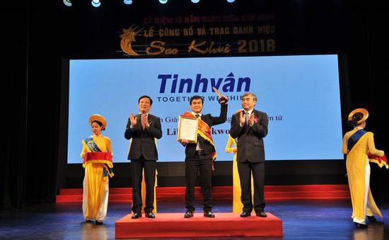 Giải pháp lưu thông tài liệu điện tử Libol Bookworm - Tinh Vân được trao danh hiệu Sao Khuê 2018