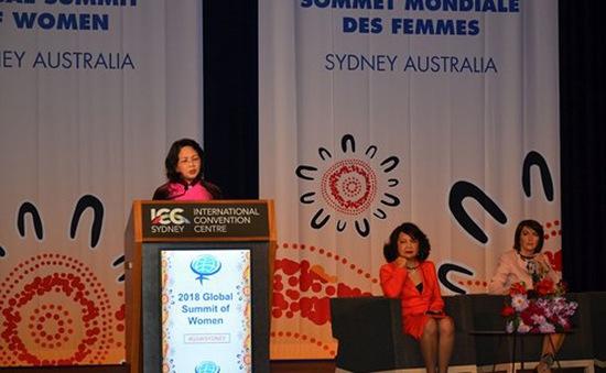 Phó Chủ tịch nước Đặng Thị Ngọc Thịnh phát biểu tại Hội nghị Thượng đỉnh phụ nữ toàn cầu