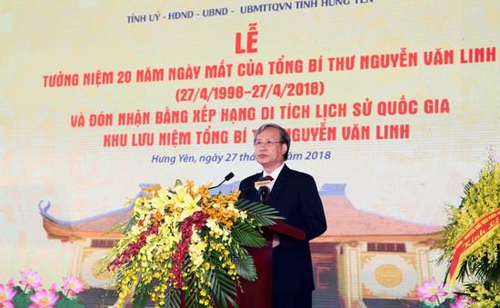 Tưởng niệm 20 năm ngày mất Tổng Bí thư Nguyễn Văn Linh