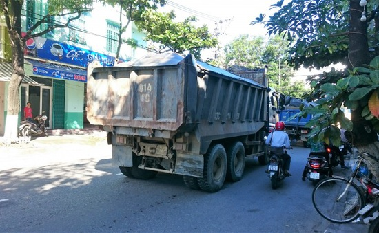 Đà Nẵng tạm ngưng hoạt động đối với ô tô tải ben chở vật liệu xây dựng