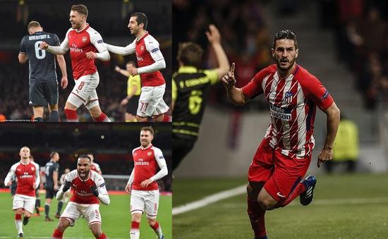 Tứ kết Europa League: Arsenal đại tiệc bàn thắng, Atletico Madrid thắng dễ