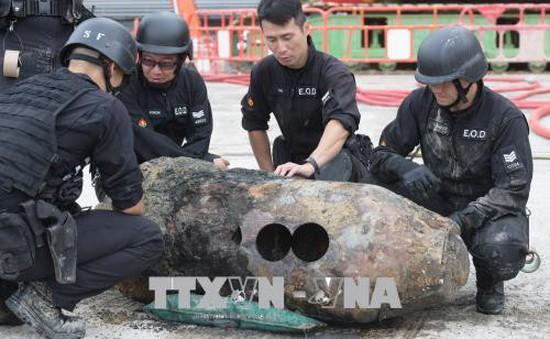 Trung Quốc: Phát hiện thêm một quả bom chưa nổ ở Hong Kong