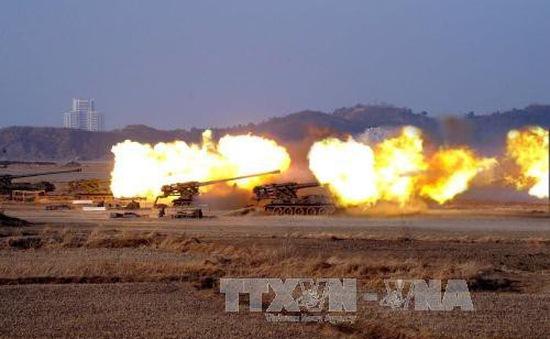 Triều Tiên giảm quy mô cuộc thi bắn đạn thật của các đơn vị tăng thiết giáp