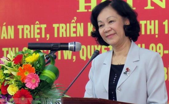 Đồng chí Trương Thị Mai làm việc tại Phú Yên về xây dựng, chỉnh đốn Đảng