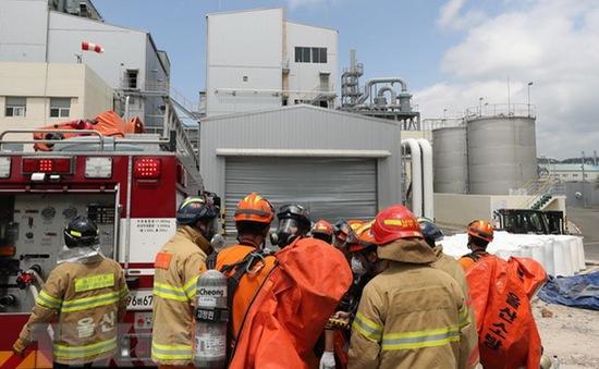 Hàn Quốc: 13 người bị thương do rò rỉ khí clo tại nhà máy hóa chất