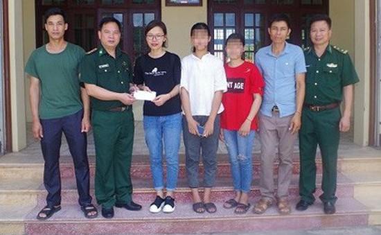 Giải cứu thành công 2 học sinh bị lừa bán sang Trung Quốc