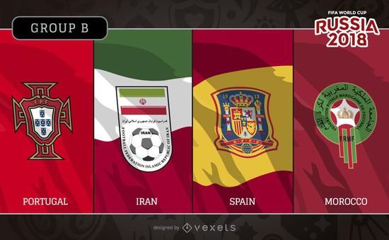 Bảng B World Cup 2018: Ưu thế tuyệt đối của ĐT Tây Ban Nha và Bồ Đào Nha