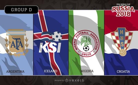 Bảng D World Cup 2018: Argentina và bảng đấu khó đoán cùng Croatia, Iceland và Nigeria