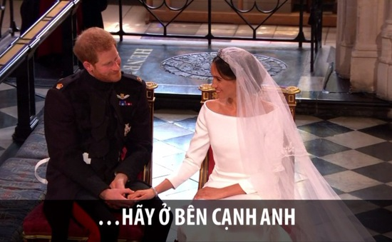 Đây là khoảnh khắc ngập tràn cảm xúc trong đám cưới Hoàng gia Anh