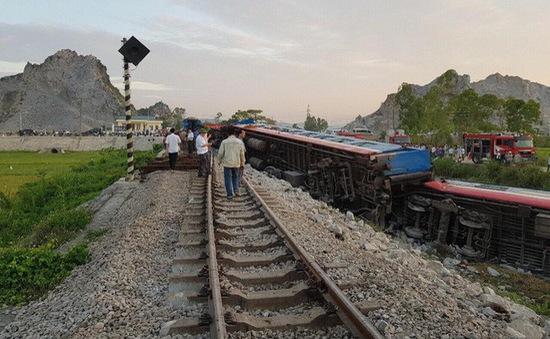 Thông tuyến khu vực xảy ra tai nạn tàu hỏa ở Thanh Hóa