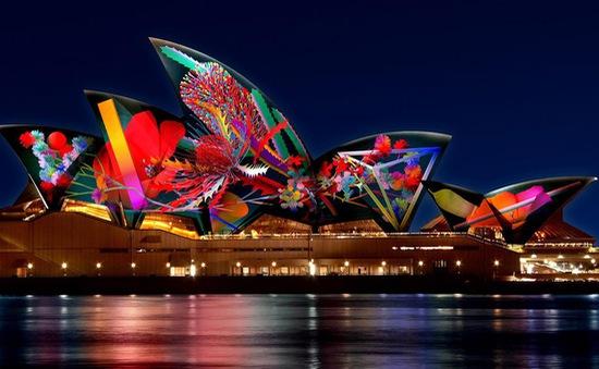 Lung linh lễ hội ánh sáng Vivid Sydney 2018