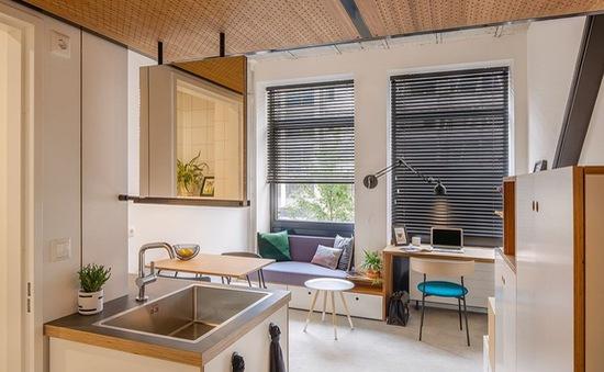 Căn hộ 18 m2 tiện nghi của nam sinh viên trẻ