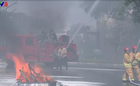 Thừa Thiên Huế diễn tập phòng cháy chữa cháy và cứu nạn tại nhà cao tầng