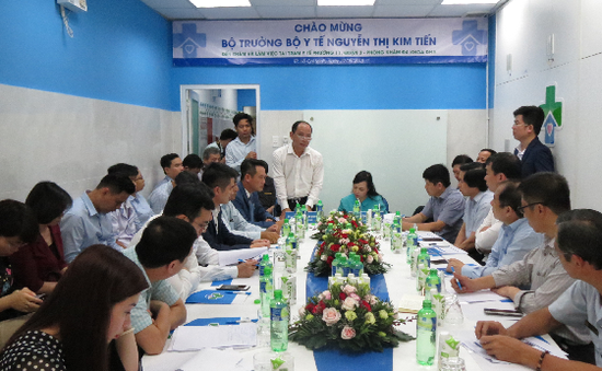 Bộ trưởng Bộ Y tế đến thăm và làm việc tại Trạm Y tế phường 11, quận 3 và DHA Medic